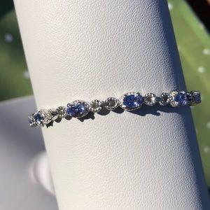 "Jewelry - Tanzanite Link Station Bracelet - 7.25"" Length"